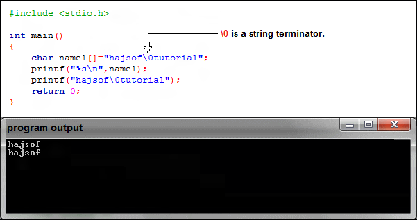NULL character or string terminator - C Programming Tutorial