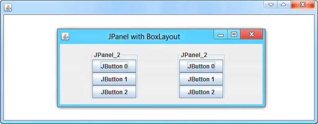 swing how to add a layout in a java panel