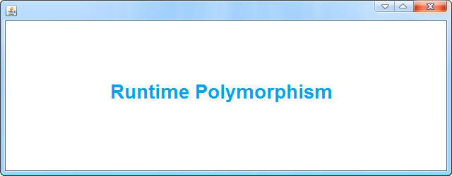 Runtime Polymorphism in Java